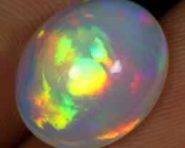 SUPER DEAL 5.80cts Superb Strong Rainbow Fire Natural Ethiopian Welo Opal