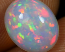 2.20cts Floral Patchwork Pattern Natural Ethiopian Welo Opal
