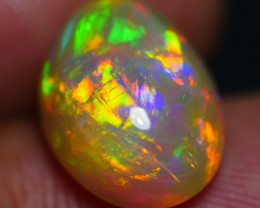 4.15 CRT BRILLIANT BROAD STRIPE FLOWER MULTICOLOR WELO OPAL