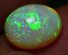 2.40 CRT AWESOME DELUXE  MILKY RIBBON PIN FIRE MULTICOLOR WELO OPAL