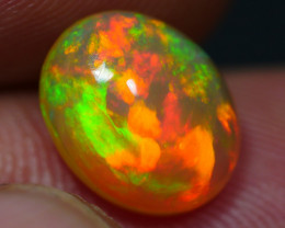 2.35 CRT DARK CRYSTAL ROLLING FLASH FIRE PATTERN PLAY COLOR WELO OPAL