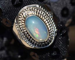 ETHIOPIAN OPAL RING 925 STERLING SILVER JE1802