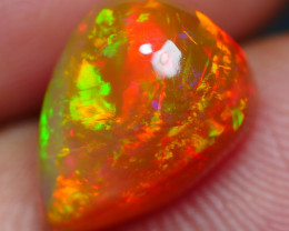 2.80 CRT GORGEOUS DARK BASE  CHAFF FIRE PATTERN FULL COLOR WELO OPAL