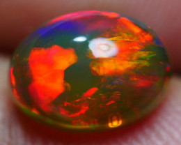 2.05 CRT STUNNING DARK BASE NEON RED FIRE PLAY COLOR WELO OPAL