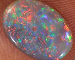 1.05ct 12x8mm Solid Lightning Ridge Dark Opal [LO-1519]