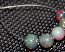 2.90 Crts Natural Ethiopian Welo Smoked Opal Balls Demi Strand 48
