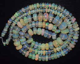 39.65 Ct Natural Ethiopian Welo Opal Beads Play Of Color