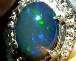 Cek video RARE 5/5 BLUE FIRE RIBBON OPAL