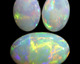 1.72 CTS CRYSTAL OPAL SET 3 FROM COOBER PEDY[SEDA2102]