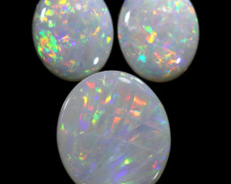 4.12 CTS CRYSTAL OPAL SET 3 FROM COOBER PEDY[SEDA2105]