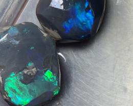 56 CTs Black Nobby, Lightning Ridge Rough Opals,#376