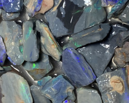 300 CTs Black Rough, Lightning Ridge Black Rough Opals,#378