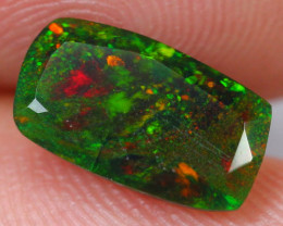 1.14cts Natural Ethiopian Faceted Smoked Black Opal / BB58