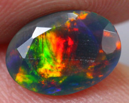 1.04cts Natural Ethiopian Faceted Smoked Black Opal / BB69