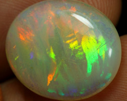 8.45cts Brush Stoke Neon Fire Natural Ethiopian Welo Opal