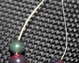 2.65 Crts Natural Ethiopian Welo Smoked Opal Balls Demi Strand 32