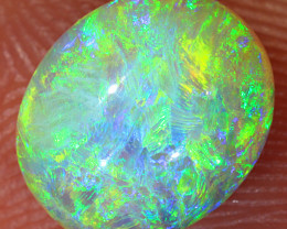 High Dome 2ct 9x7.5mm Solid Lightning Ridge Crystal Opal [LO-1550]