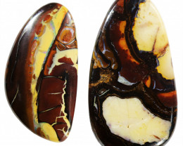 48 CTS CHOCOLATE IRONSTONE WITH WHITE OPAL[MS8310]