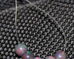 1.70 Crts Natural Ethiopian Welo Smoked Opal Balls Demi Strand 50