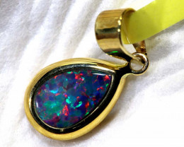 3- CTS   DOUBLET OPAL 9K PENDENT OF-2545