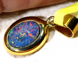 2.5- CTS   DOUBLET OPAL 9K PENDENT OF-2548