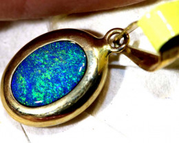 2.5- CTS   DOUBLET OPAL 9K PENDENT OF-2551