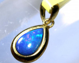 2.90- CTS   DOUBLET OPAL 9K PENDENT OF-2555