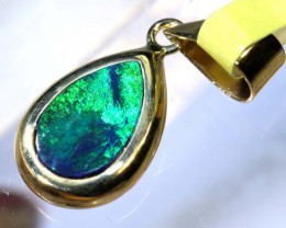 2.50- CTS   DOUBLET OPAL 9K PENDENT OF-2558