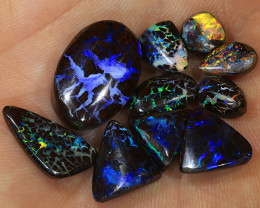 10pcs 30ct Boulder Opal Matrix Parcel [LOB-2642]