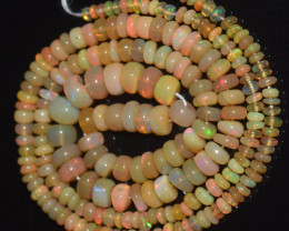 38.10 Ct Natural Ethiopian Welo Opal Beads Play Of Color