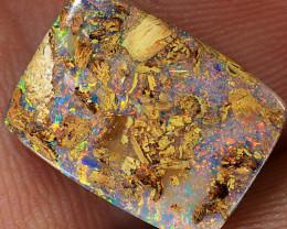 5.4ct 14x10mm Wood Fossil Boulder Pipe Opal  [LOB-2645]