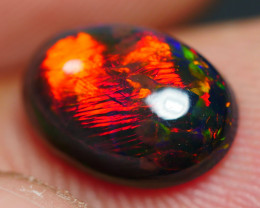 1.60 CRT GORGEOUS SMOKED BROAD STIPE FIRE WELO OPAL-