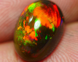 2.50 CRT GORGEOUS SMOKED BROAD STRIPE PLAY COLOR PATTERN WELO OPAL-