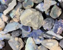 660 CTs of Solid/Natural Lightning Ridge Rough Opal, #413