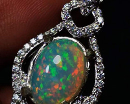 Best Quality Palladium Ribbon Opal stuning 5/5