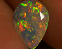 0.83 CT 10X7MM  Rare Quality Faceted Cut Ethiopian Opal-EAA79