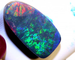 9.55-CTS QUALITY BOULDER DOUBLET OPAL POLISHED STONE  INV-1286
