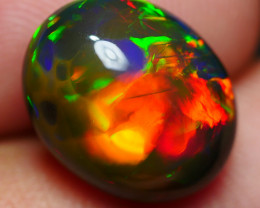 3.75 CRT GORGEOUS SMOKED PATCHWORK WELO CHAFF PLAY COLOR WELO OPAL-