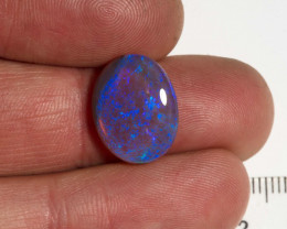 5.00 carat Black crystal Lightning Ridge opal oval with blue fire