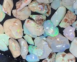 380 CTs of Solid/Natural Lightning Ridge Rough Opal, #421