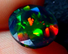 2.15 MULTI COLOR CONFETTI SMOKED FACETED OPAL - ZA107
