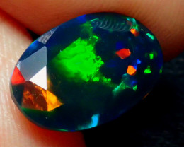 2.31CT 5/5 NEON BRIGHT FLASH COLOR SMOKE FACETED OPAL - ZA105