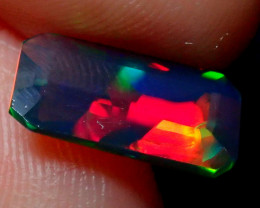 1.05CT PUZZLE PATTERN SMOKED FACETED OPAL - ZA104
