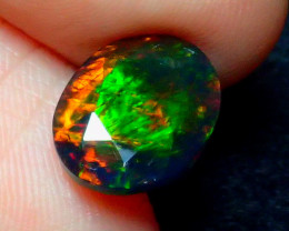 1.98CT FLASH COLOR SMOKED FACETED ETHIOPIA OPAL - ZA102