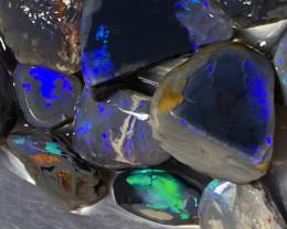 296 CTs Nobby; Lightning Ridge Rough semi black Nobby Opals,#429