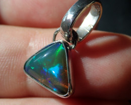 Brown Supreme Blazing Welo Solid Opal .925 Sterling Pendant