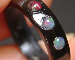 4.40 CT Unique Wedding ring Buffalo Horn Indonesian Crystal Water Opal