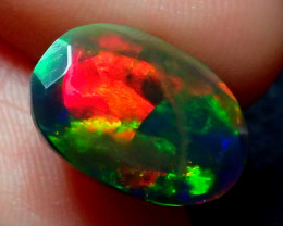 3.28CT  TOP 5/5 NEON FIRE FLASH SMOKED FACETED OPAL - ZA108