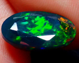 2.91CT NICE BEAUTIFUL FLASHY SMOKED FACETED OPAL - ZA109