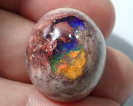40 cts Mexican Matrix Cantera Multicoloured Fire Opal